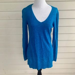 Eileen Fisher Petite Long Sleeve Knit Tunic Top